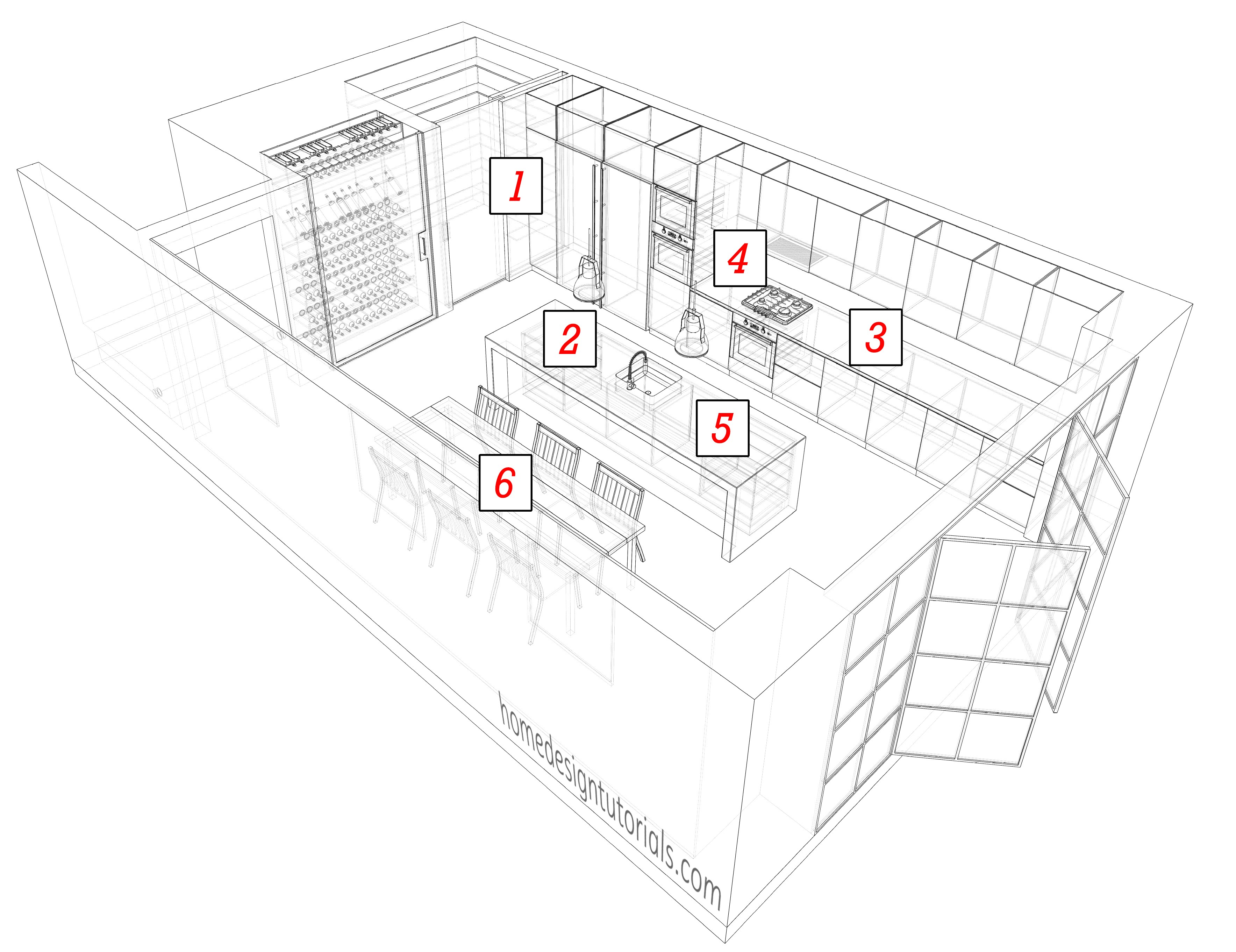 Kitchen Design Drawing at GetDrawings.com | Free for personal use ...