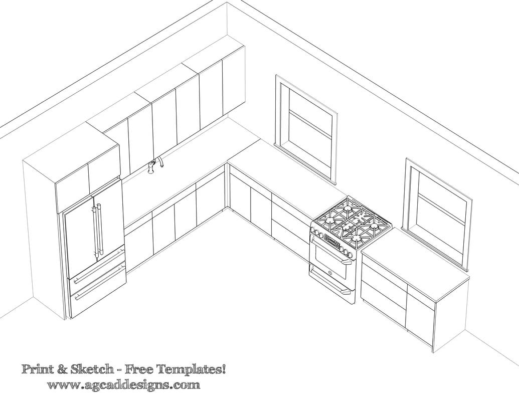 1035x800 Free Architecture Templates Kitchen Design
