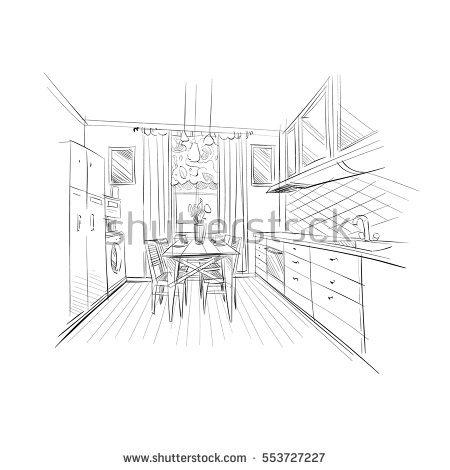 450x470 Drawn Kitchen Architecture