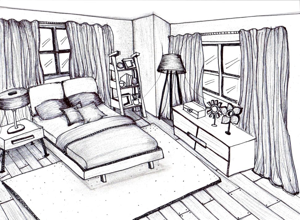 972x715 Interior Hand Sketch Drawing Ideas. Ideas. Kahode Home Design Ideas