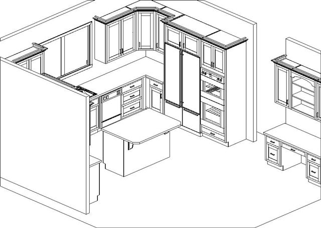 how to draw kitchen cabinets in turbocad
