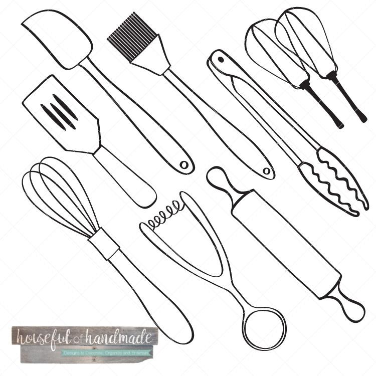 750x750 Kitchen Utensil Drawings