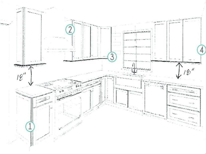 826x620 79 Creative Astounding Wonderful Designing Kitchen Cabinets Layout