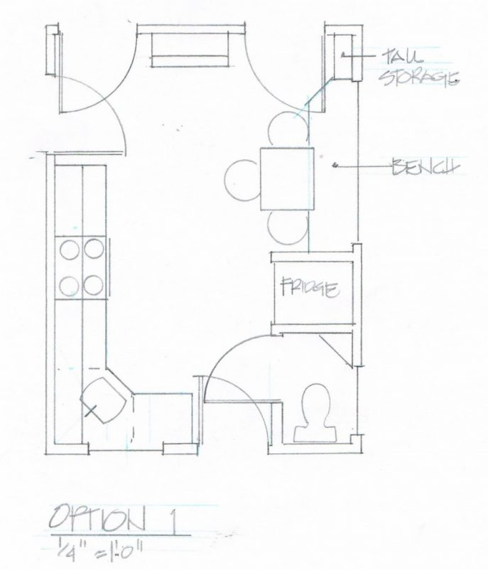 Kitchen Layout Sketch: Kitchen Layout Drawing At GetDrawings.com
