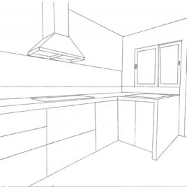 268x268 Learn How To Draw Kitchen Cabis Furniture Step By Step Kitchen