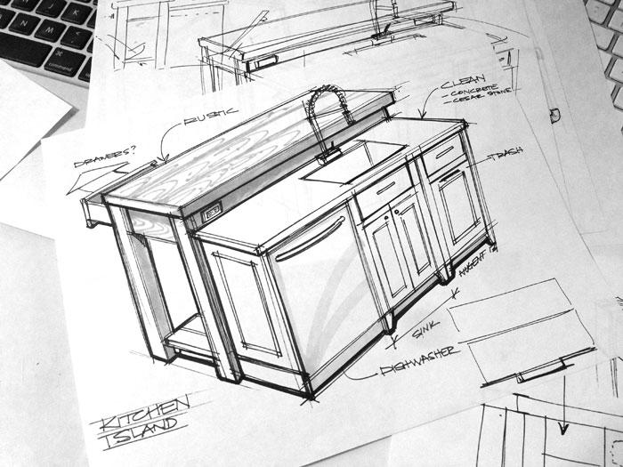 700x525 Sketch A Day 416 Kitchen Design Sketch Sketches