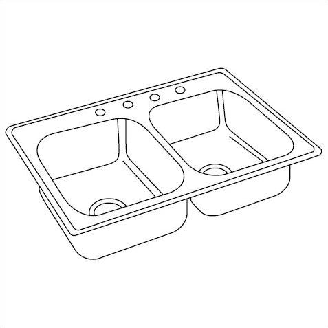 477x477 Elkay Dayton 33 X 19 Double Basin Drop In Kitchen Sink Amp Reviews