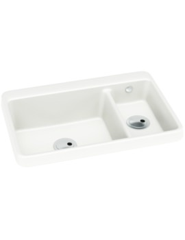 270x350 Franke Hydros Hdx 654 Stainless Steel 1.5 Bowl Kitchen Inset Sink