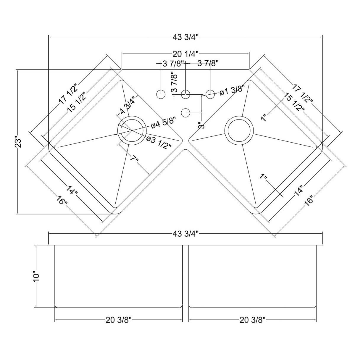 1200x1200 Home Decor Undermount Corner Kitchen Sink Corner Kitchen Sink