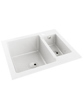 270x350 Abode Zero 1.5 Bowl Granite Kitchen Sink Without Drainer Aw3105