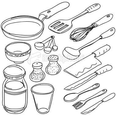Kitchen Tools Drawing