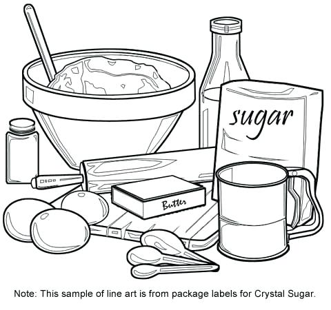 480x450 Kitchen Coloring Pages It Is Objects Of Kitchen Utensils Kitchen