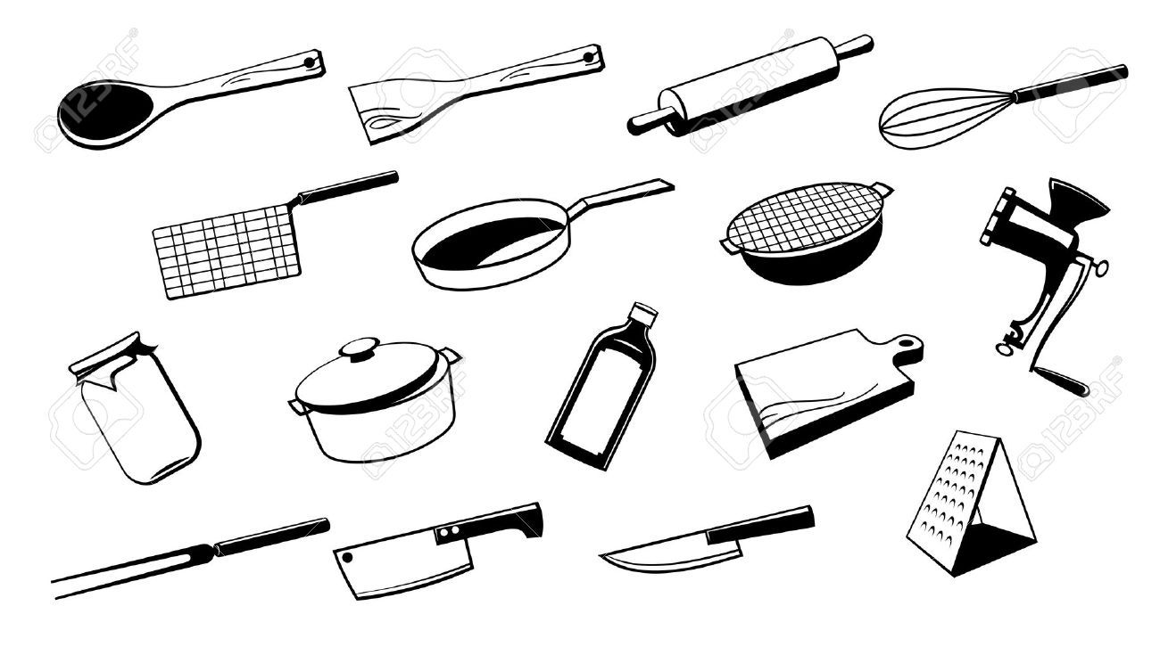 1300x726 Classy Kitchen Tools Drawing Inspiration Design Of Kitchen