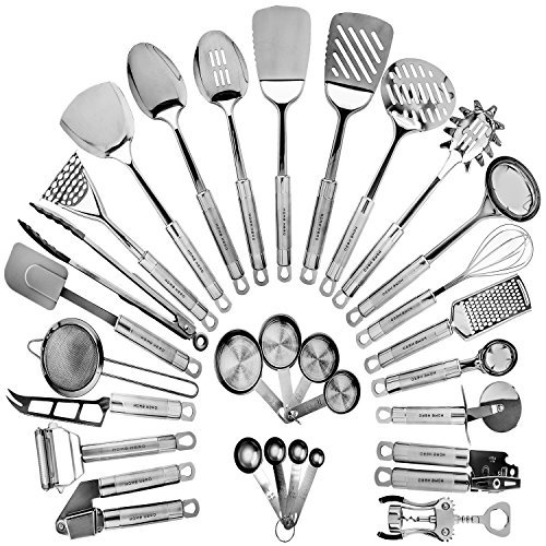 500x500 Funky Kitchen Gadgets Stainless Metal Kitchen Utensil Set