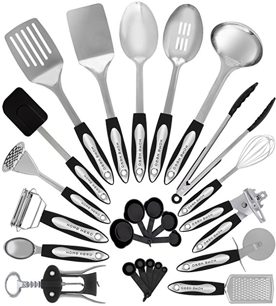 569x632 Stainless Steel Kitchen Utensil Set