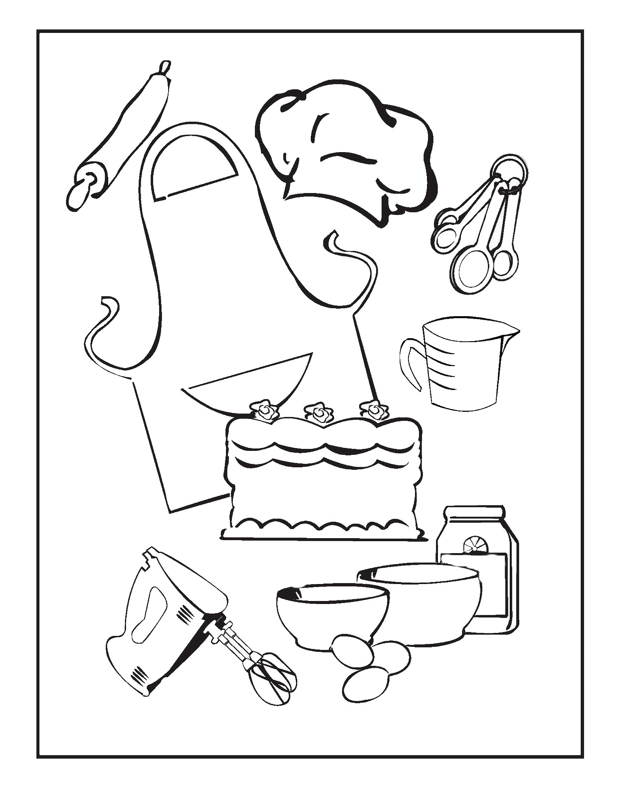 kitchen utensils drawing at getdrawingscom free for