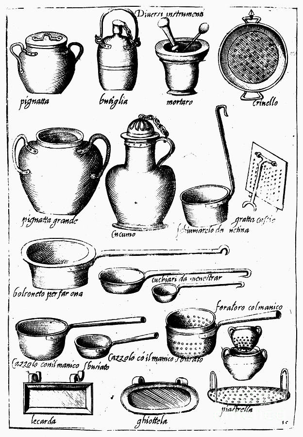 624x900 Cooking Utensils, 1643 Photograph By Granger