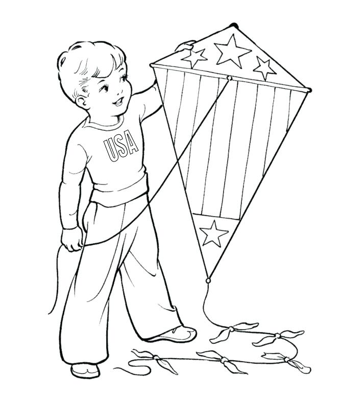670x820 Kites Coloring Pages Kite Page Chinese