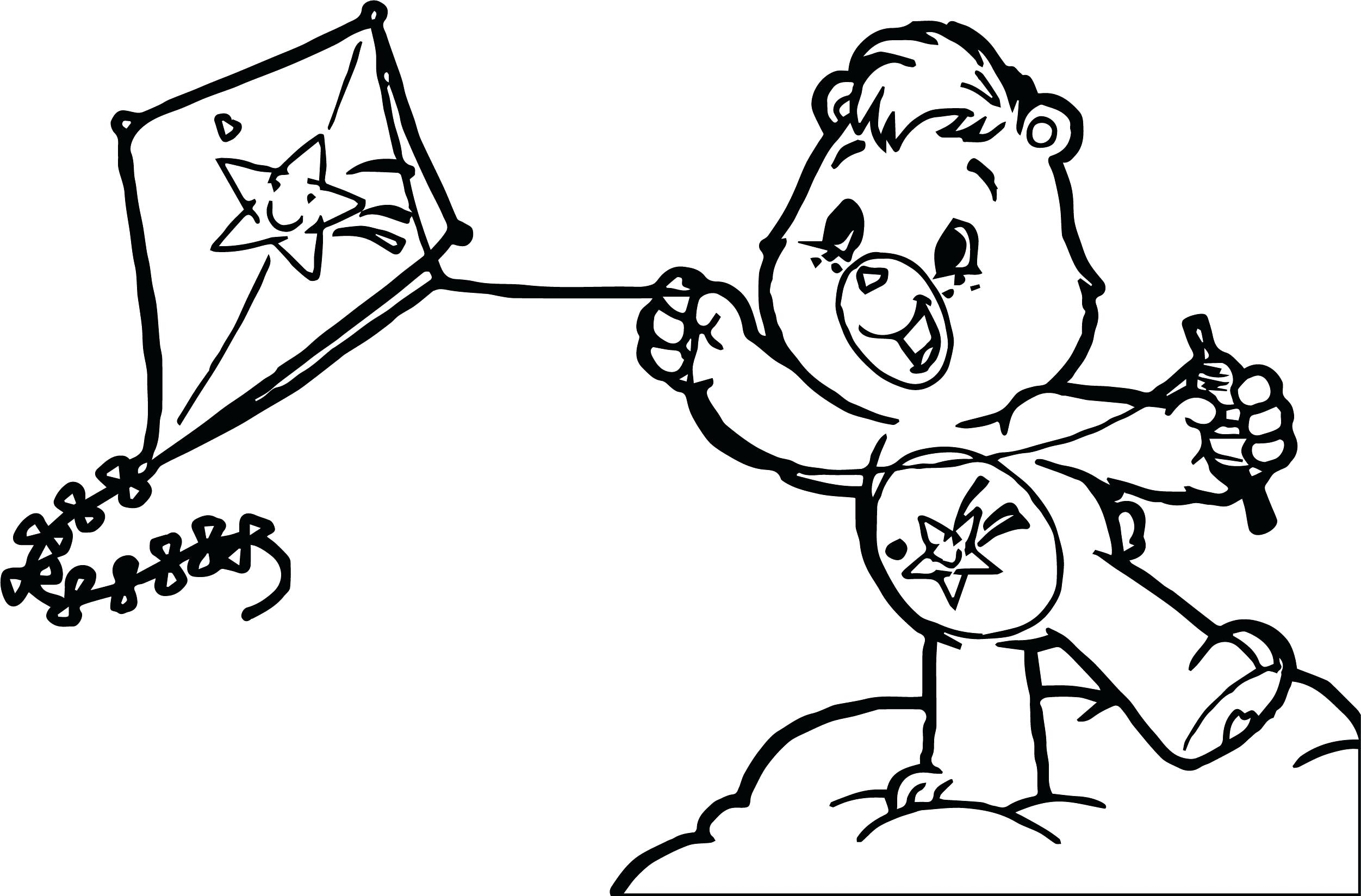Kite Drawing At Free For Personal Use Chinese Template How To Make A Diagram 2503x1649 Coloring Cartoon Outline Colouring