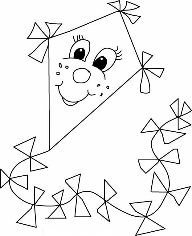 623x767 kites coloring pages for boys printable in cure print draw