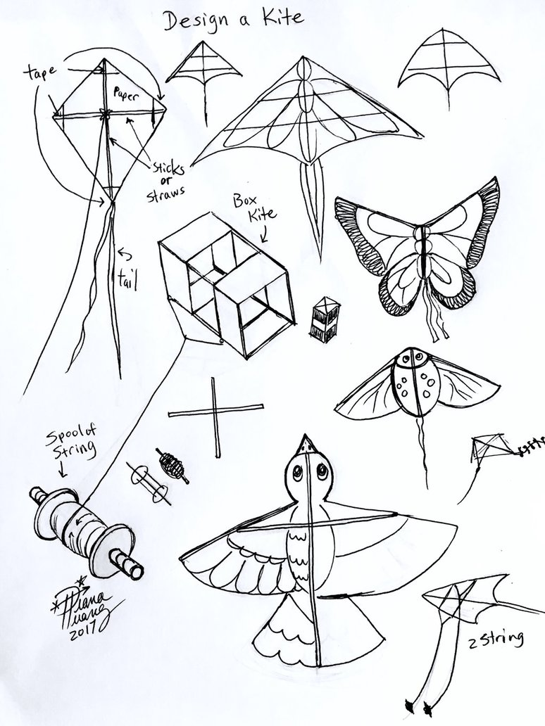 774x1032 Draw Design A Kite By Diana Huang