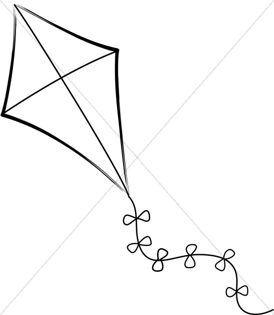 534x612 Flying Kite Youth Program Clipart
