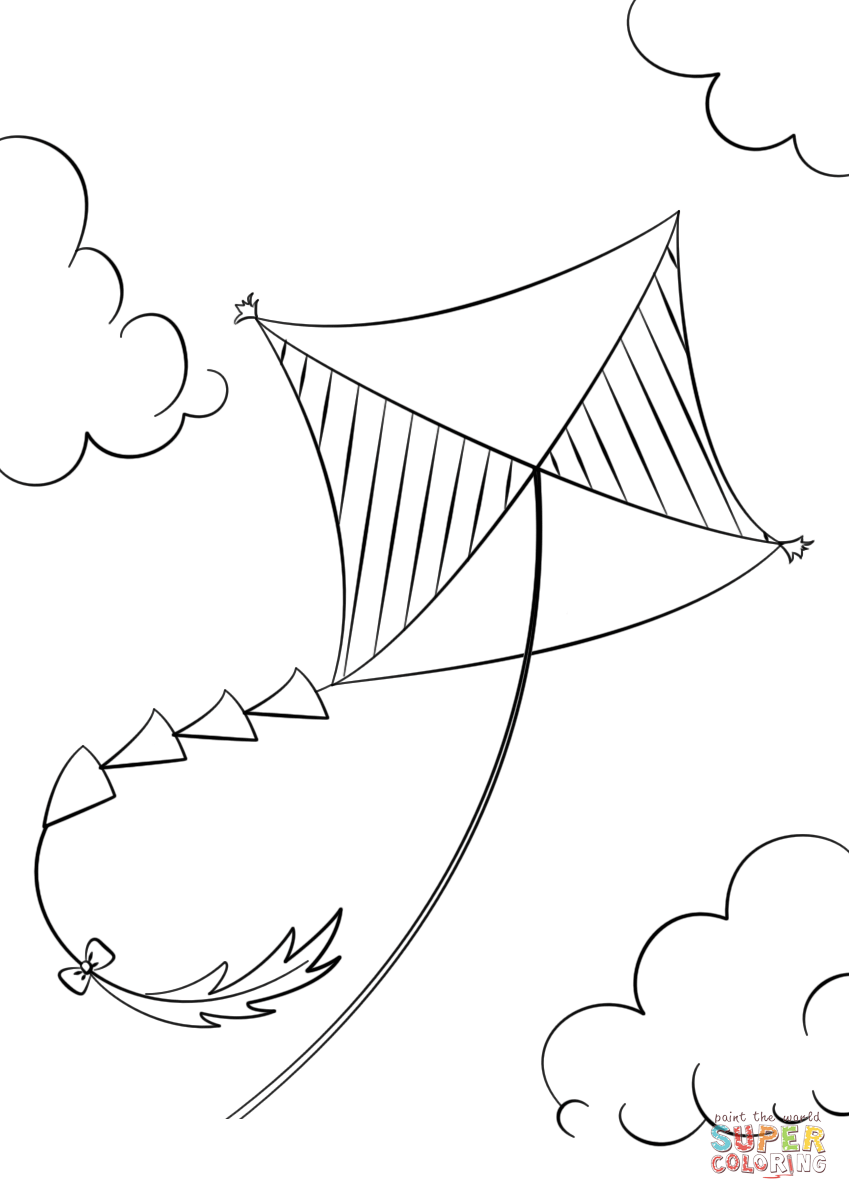 849x1200 Kite Flying Coloring Page Free Printable Coloring Pages