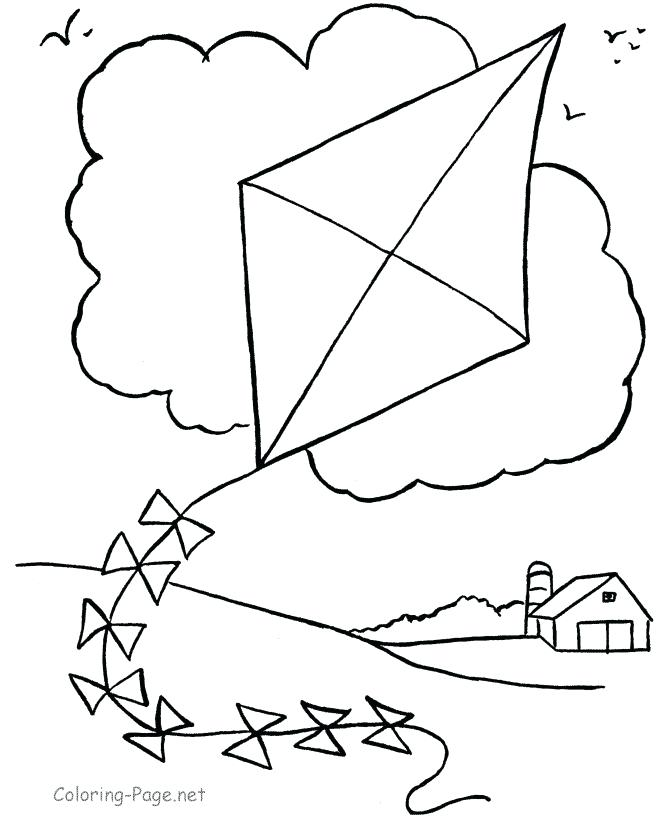 670x820 Kites Coloring Pages Free Kite Coloring Pages Flying Kites