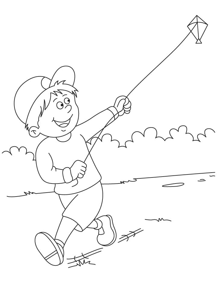 720x936 Raju Flying Kite Coloring Pages Download Free Raju Flying