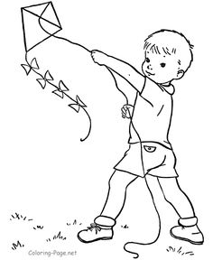 236x288 Boy Flying A Kite Clipart