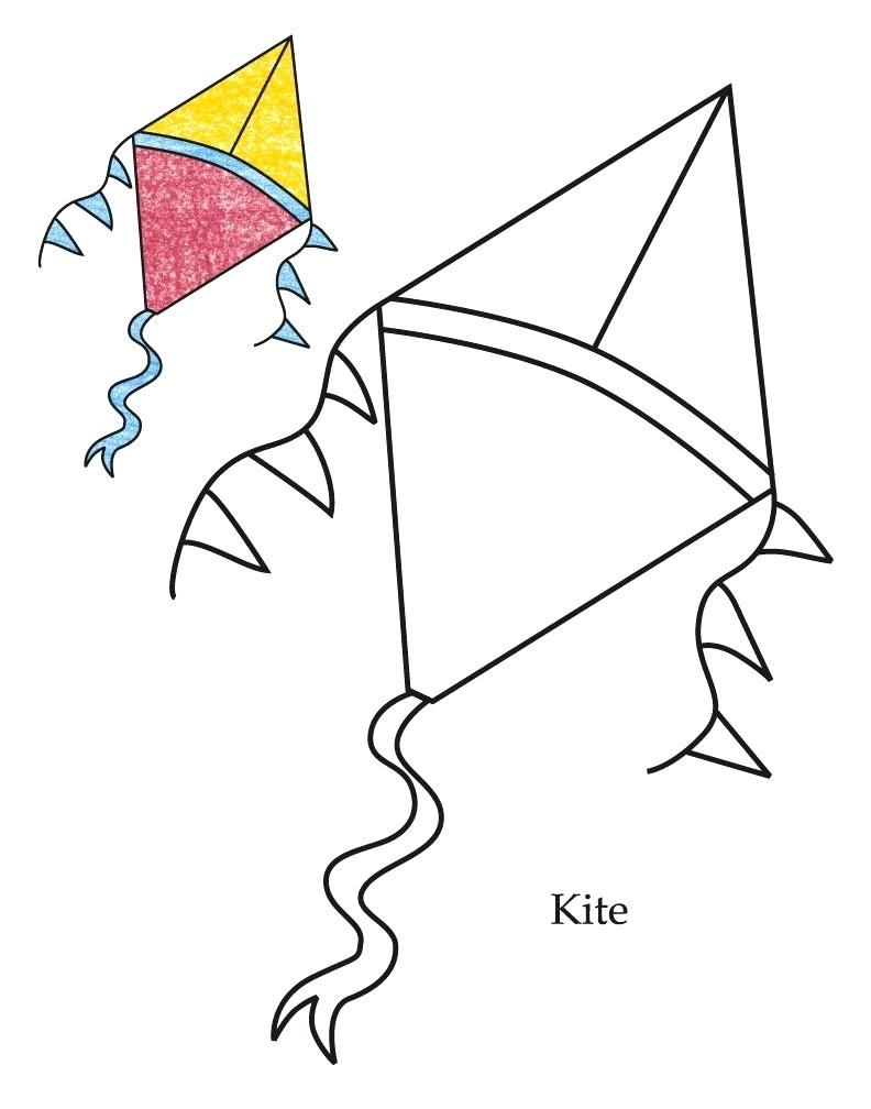 792x1008 Coloring Kite Coloring Pages Printable 0 Level Page Kites Print