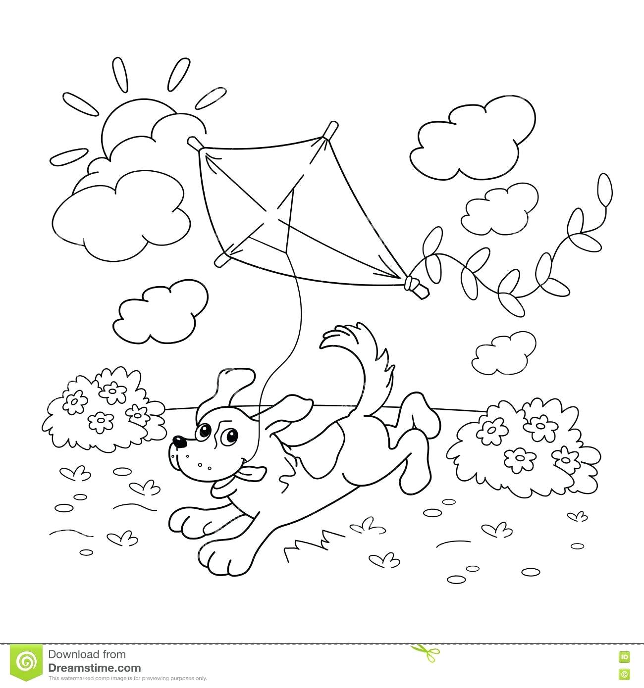 1300x1390 Coloring Kites Pages Kite For Kids Printable Drawing