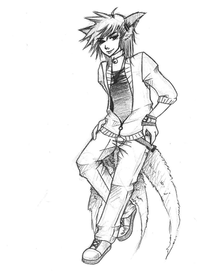 Kitsune Drawing at GetDrawings   Free download