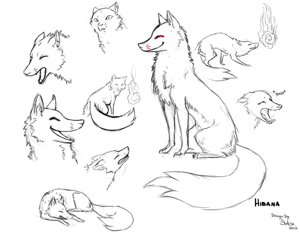 The best free Kitsune drawing images. Download from 93 ...