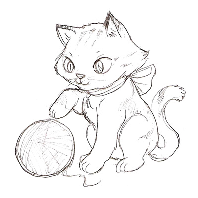 Kitten Cartoon Drawing At Getdrawings Com Free For Personal Use