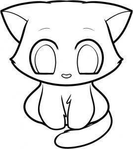 269x302 How To Draw How To Draw A Kitten For Kids