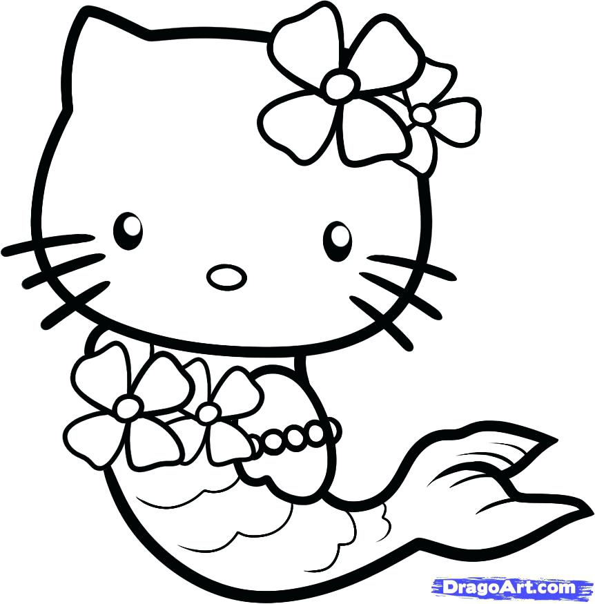 862x875 Kitten Coloring Page Drawn Color 8 Pages