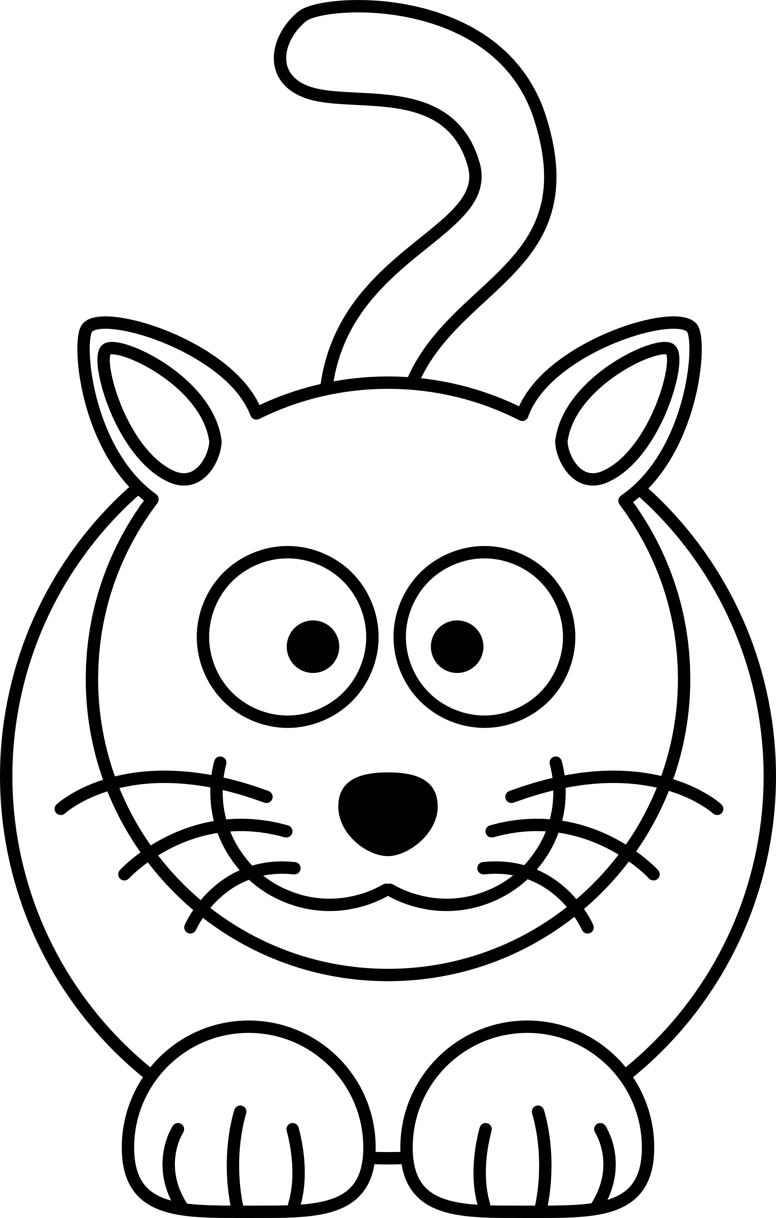 960x544 Kitten Coloring Page Free Printable And Download Animals Pages 2555x4009 Face Clipart Black White