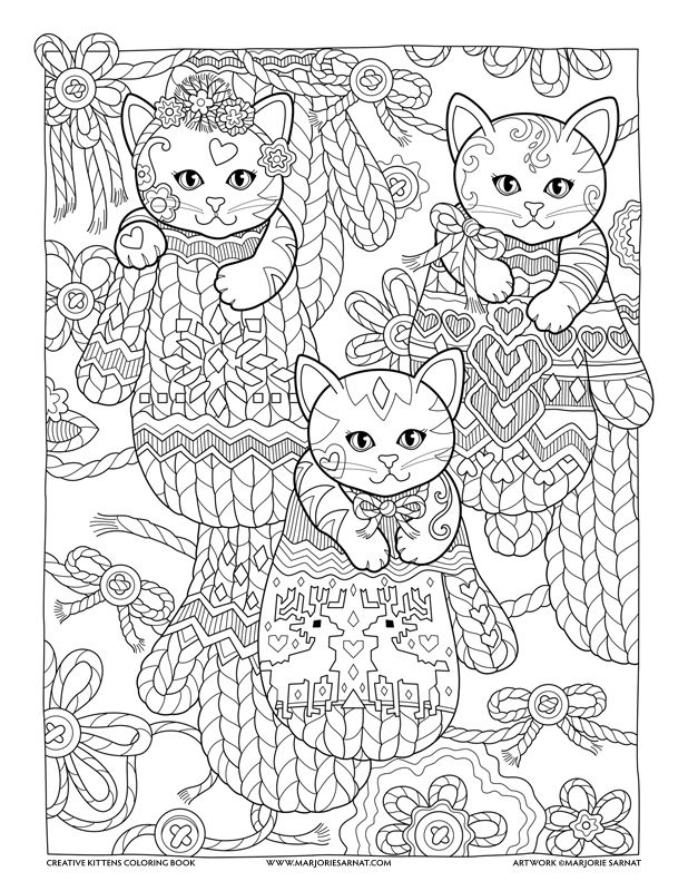 618x800 Mittens Creative Kittens Coloring Book By Marjorie Sarnat