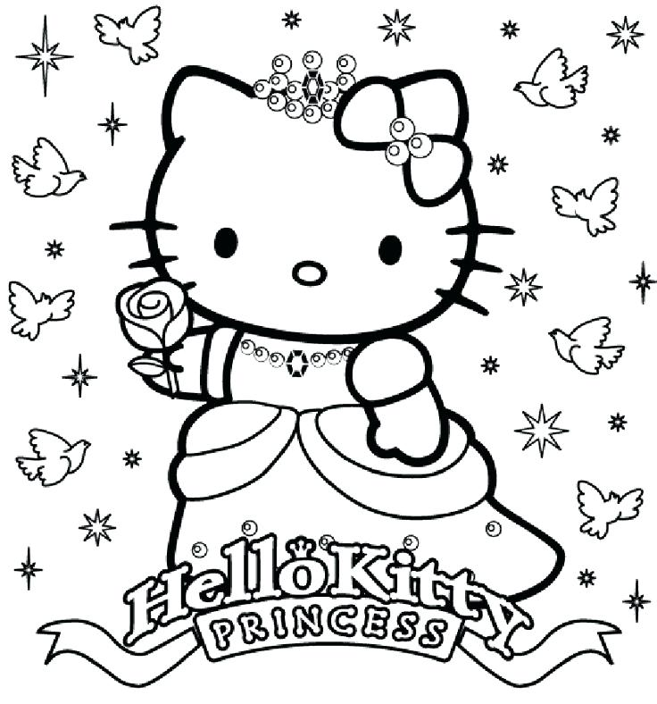 736x788 Hello Kitty Coloring Pages Drawing Sheets