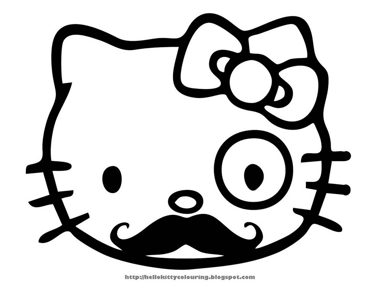 1258x956 Coloring Page Hello Kitty Free Drawing Board Weekly