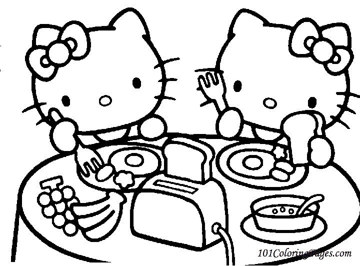 720x532 Glamorous Hello Kitty Coloring Pages 14 For Books With