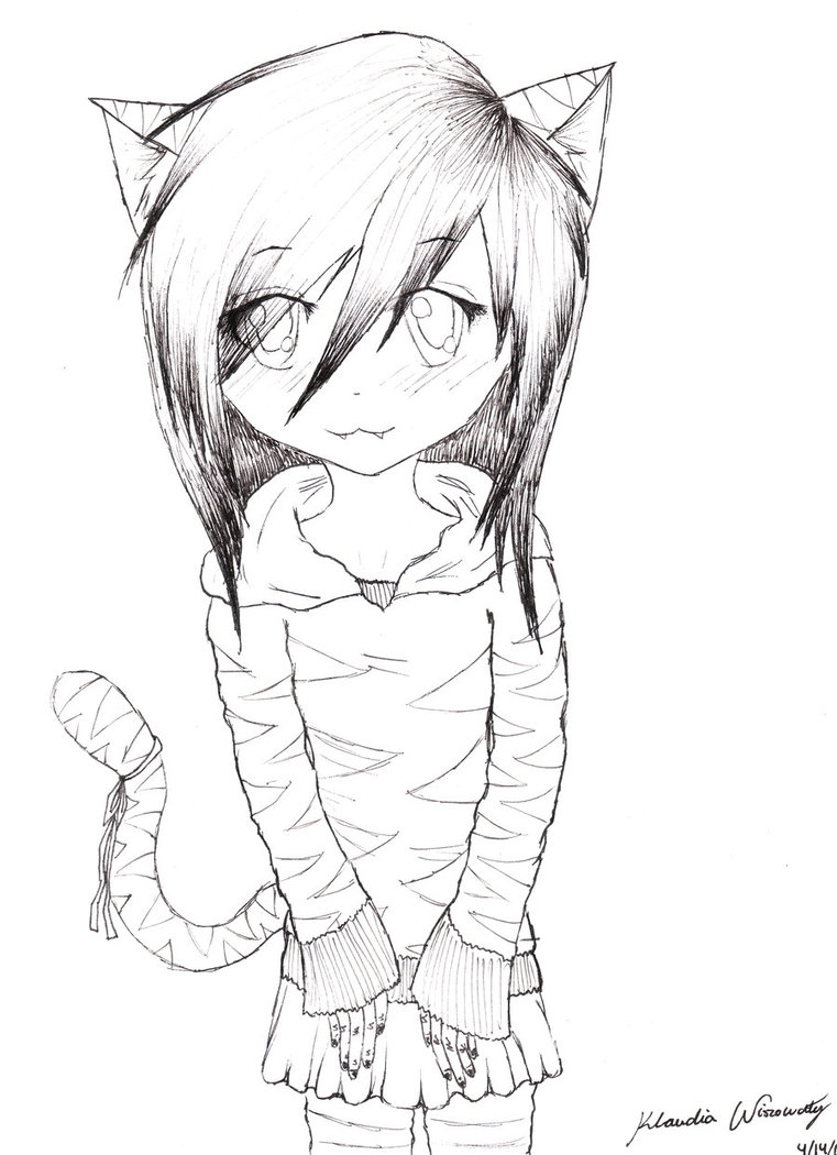 761x1050 Anime Vampires Easy Draw Vampire Kitty Girl By Kiwilover333