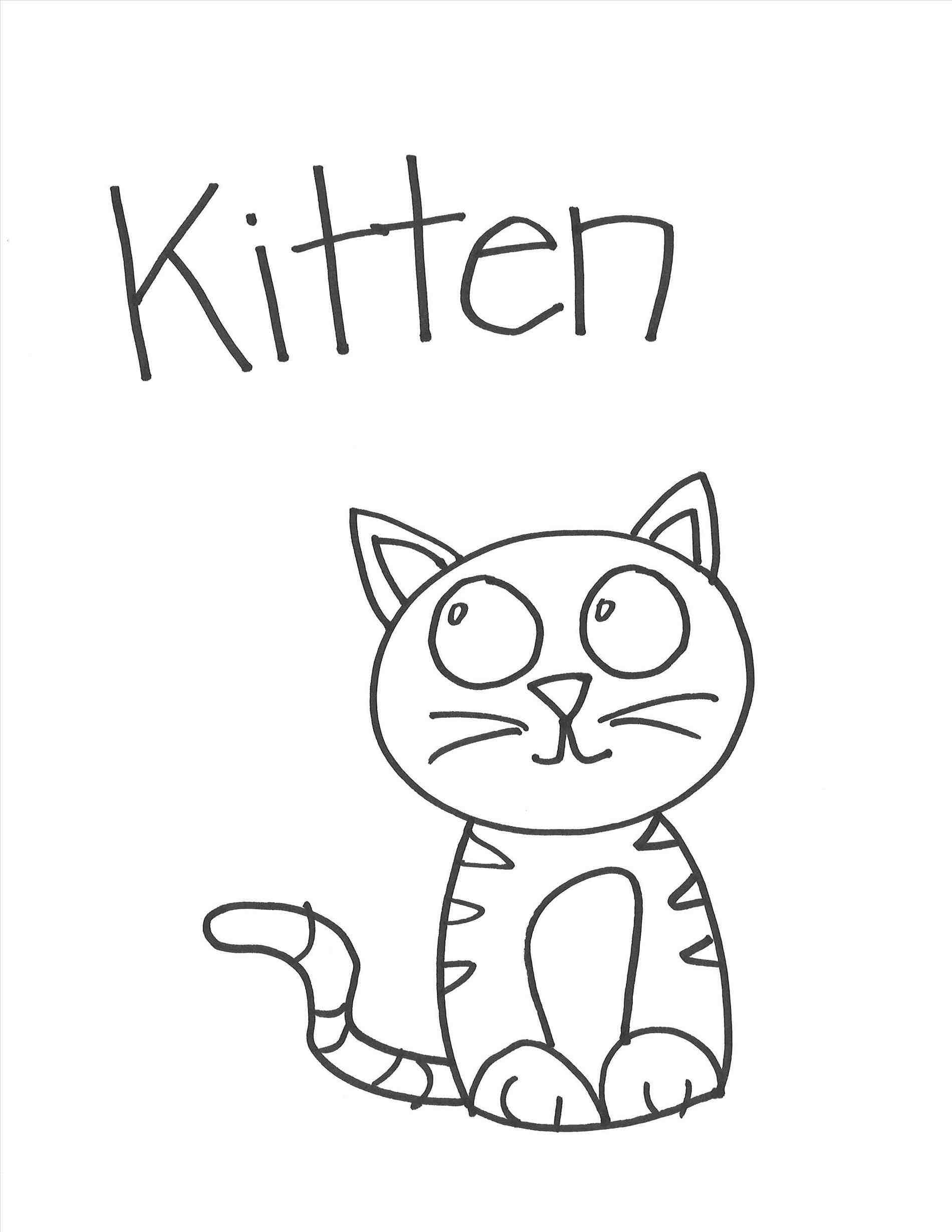 1900x2458 How To Draw A Kitten. How To Draw A Kitten Cute Easy Step By Step