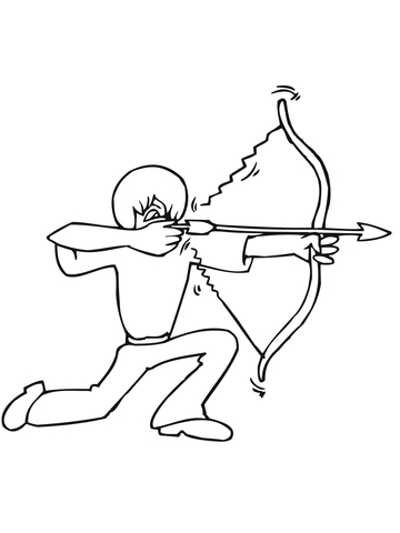 360x480 Bow Shooting From The Knee Coloring Page Free Printable Coloring
