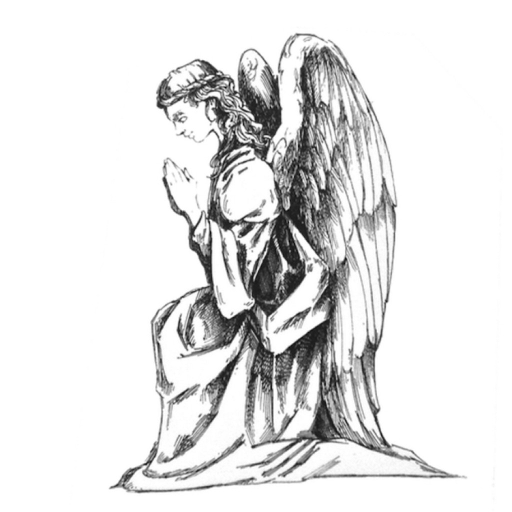 Kneeling Angel Drawing