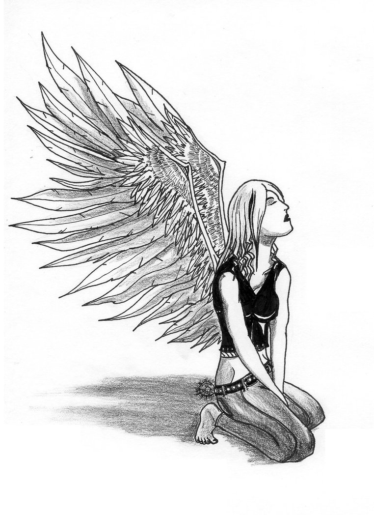 762x1048 Kneeling Angel By Rebeladdiction
