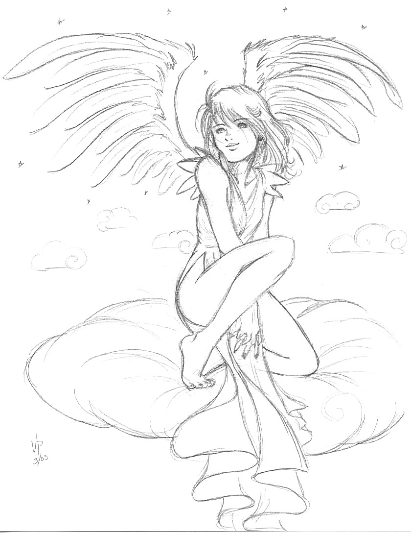 840x1088 Happy angles draling Happy Angel Girl By Valkyriechan Taylor'S