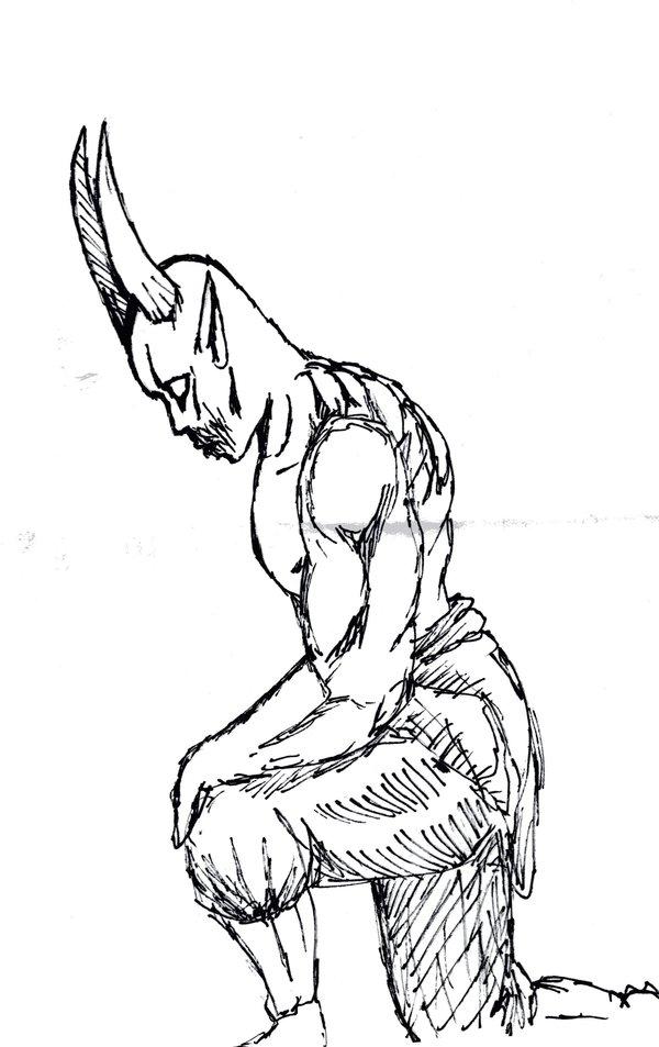 600x953 Kneeling Demon By Moonlighthawk