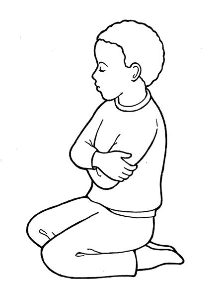 447x596 Kneeling In Prayer
